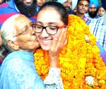 Navjeet Dhillon gets a warm welcome in Amritsar