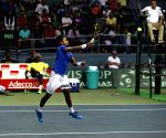 Davis Cup World - Group Play-off - Sumit Nagal vs Marc Lopez