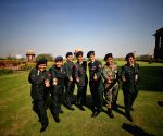New Delhi: Indian Army Women officers pose for photo to celebrate World Women Day