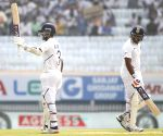 3rd test - Day 2 -  Ajinkya Rahane celebrates century