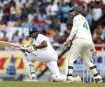 3rd test - Day 2 -  R. Ashwin plays a shot