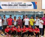 Indian Boxers during training session in Korea