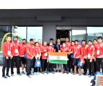 Queensland (Australia): Indian Boxing Team at Gold Coast 2018 Commonwealth Games village