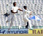 Virat Kohli celebrates fall of wicket of Joe Root