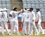 2nd Test Day 4 - Virat Kohli celebrates the wicket of Theunis de Bruyn