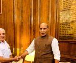 Coast Guard DG meets Rajnath Singh