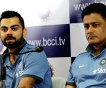 Anil Kumble, Virat Kohli  - press conference