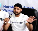 Harbhajan Singh interacts with children
