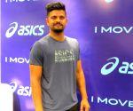 Suresh Raina at the launch of footwear range of ASICS