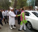 Prakash Javadekar arrives at FDI