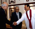 Indian Foreign Secretary Shivshankar Menon and National Security Advisor M.K.Narayanan meet Sri Lankan President Mahinda Rajapaksa in Colombo Friday.