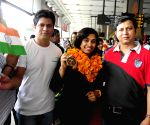 Deepa Karmarkar arrives at IGI Airport