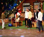Indian Kabaddi team on the sets of The Kapil Sharma Show
