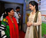 Koyal Rana visits a Delhi Hospital on National Plastic Surgery Day