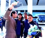 Indian football team reaches Muscat