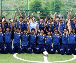 Udaipur (Rajasthan): Sunil Chhetri visits Zinc Football Academy