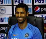 Ashish Nehra speaks to the media
