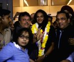 P. V. Sindhu welcomed at IGI Airport