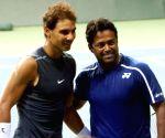 Davis Cup 2016 - Practice session - Leander Paes, Rafael Nadal