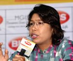 Jhulan Goswami at an interactive session with BIBS students