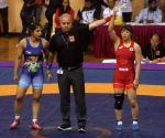 Sakshi Malik in action
