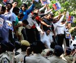 IYC demonstration  against VK Singh