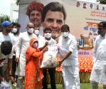 Indian Youth Congress (IYC) distribute food for needy peoples on occasion of Birth anniversary of Rahul Gandhi at IYC office Raisina hill in New Delhi