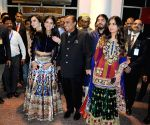 Mukesh Ambani with family arrives