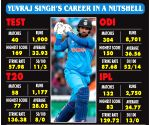Fiery Yuvraj Singh ends international career