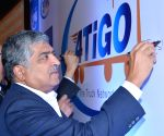 Nandan Nilekani during 4TiGO, The Truck Network press conference