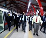 Free Photo: Inspection of extensive renovation works on Red Line of Delhi Metro