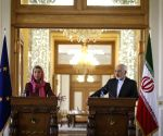 IRAN TEHRAN EU MOGHERINI ZARIF MEETING