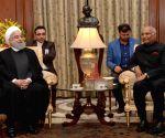 Iranian President Hassan Rouhani meets President Kovind