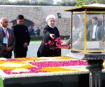 Hassan Rouhani at Rajghat
