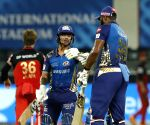 File Photo: Ishan Kishan of Mumbai Indians and Kieron Pollard of Mumbai Indians during match 10 of season 13 of the Dream 11 Indian Premier League