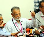 ISRO Chairman K Radhakrishnan addressing a press conference to announce the calling off of GSLV-D5 launch