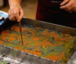 TURKEY ISTANBUL EBRU INTANGIBLE CULTURAL HERITAGE