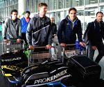 Italian Davis Cup team arrives in city