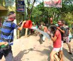 JU students celebrate Holi