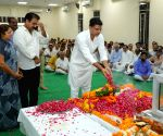 Rajasthan leaders pay tributes to Madan Lal Saini