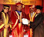 Mauritian President, Parkash Singh Badal, Kaptan Singh Solanki during a programme