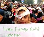 One eye 'bandaged', Jamia students continue protests