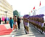Darbar Move - Mehbooba Mufti inspects guard of honor