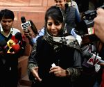 Mehbooba Mufti at Parliament