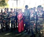 Jammu and Kashmir: Nirmala Sitharaman interacts with troops