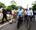 Pappu Yadav's cycle rally