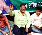 Pappu Yadav listens to peoples' grievances
