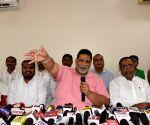 : Patna:Jan Adhikar Party President Pappu Yadav at a press Conference