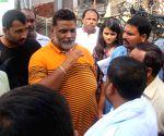 Police baton-charge protestors in Gurugram