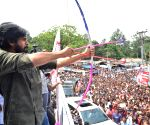 Srikakulam (Andhra Pradesh): Pavan Kalyan during an awareness programme